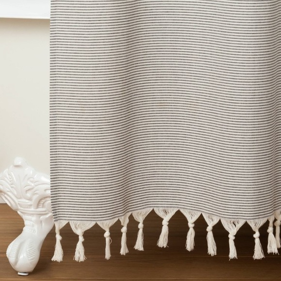 NWOT Hearth & Hand RR Gray Stripe Shower Curtain